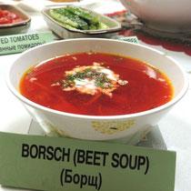 ③ Borsch(Beet Soup) - Борщ - ボルシチ