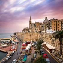 Valletta-Grand Harbor from Upper Barracca Garden