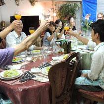 ブルターニュ郷土料理教室 2015:乾杯