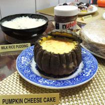 収穫祭&忘年会 2014:  デザート (パンプキンチーズケーキ)