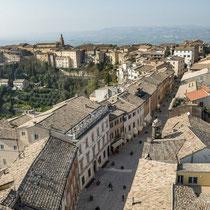 Recanati-Panoramica del centro storico