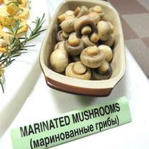 ③ Marinated Mushrooms - Маринованные грибы - マッシュルームのマリネ