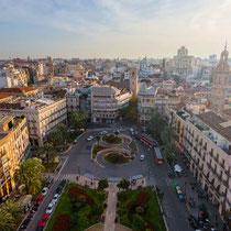 Valencia-Panorámica de la Plaza del Ayuntamiento