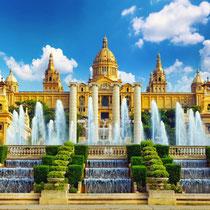 Barcelona-Montjuic-Museo Nacional de Arte de Catalunya-La Font Magic