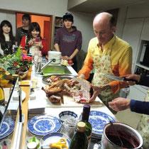 収穫祭&忘年会 2014:  ターキーカット