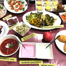 ① ロシア料理の数々
