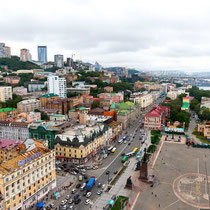 Vladivostok- The Historical Center and the main street Svetlanskaya