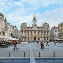 Lyon-Places de Terraux et l'Hôtel de Ville