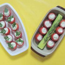 チェリートマト(きゅうりとゴルゴンゾーラ)