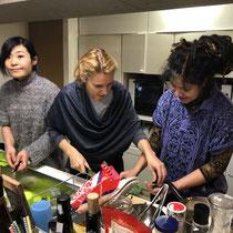 ブータン料理の調理③