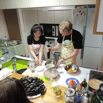 ブルターニュ郷土料理教室 2015:仲良くレッスン