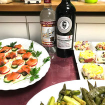 ② ウォッカと珍しいロシアの赤ワイン