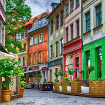 Riga -  The Old Town's historic atmosphere, old buildings and cobbled streets 2