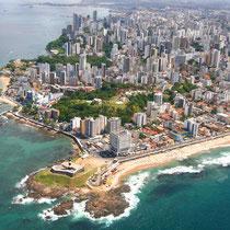 Salvador da Bahia-Vista panorámica e Farol da Barra