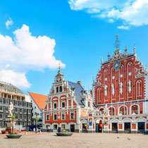 Riga -  The Old Town's historic atmosphere, old buildings and cobbled streets