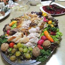収穫祭&忘年会 2014:  ターキー盛付