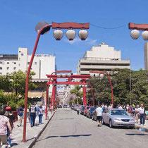 São Paulo-Bairro japonês da Liberdade (rua típica)
