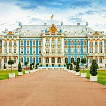 Saint Petersburg - The palace of Catherine the Great in Tsarskoye Selo (Pushkin)