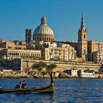 Valletta-Panoramic view of Harbour