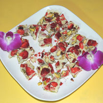④ Strawberry Pistacchio White Chocolate Bark - いちごとピスタチオのホワイトチョコレート