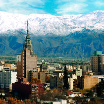 Mendoza-Panorámica de la ciudad y Los Andes 1