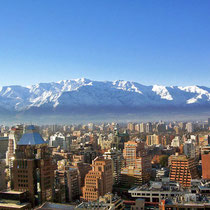 Santiago de Chile-Panoramica en invierno