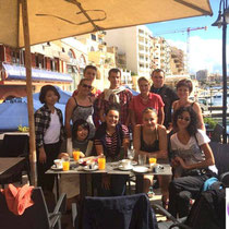 GSE Malta-Lessons in a St Julians cafe