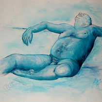 2007 - Akt  - Acryl/Leinwand,  60 x 50 cm - Privatbesitz