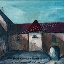 2004 -  Kartause Mauerbach - Acryl/Leinw. 60 x 30 cm