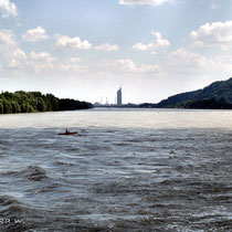 Donau mit Blick auf Wien - © mw