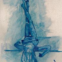 2003 - weibl. Akt liegend - Acryl/Papier, 36 x 48 cm