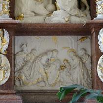 Details des barocken Weihnachtsaltars - Foto ©MW