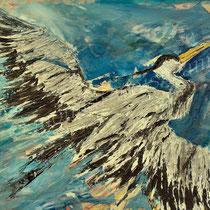 2003 - Fischreiher - Acryl/Leinw. 60 x 50 cm