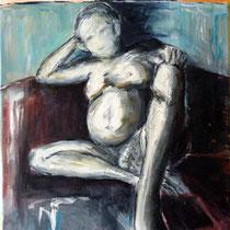 2007 - Akt  - Acryl/Leinwand, 40 x 50 cm - Privatbesitz