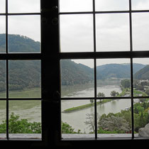 Blick vom Rittersaal auf die Donau - Foto ©MW