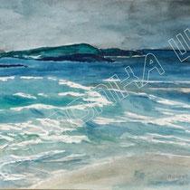 2002 - Irische See - Aquarell