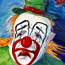 2003 - trauriger Clown 2 - Acryl/Papier, 40 x 50 cm