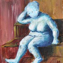 2008 - Akt  - Acryl/Leinwand, 24 x 40 cm