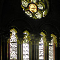 mittelalterliche Grissailefenster