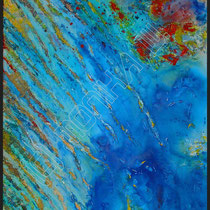 2007 -  Acryl/Leinwand, Mischtechnik, 80 x 100 cm, Schattenfugenrahmen