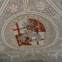 Die Sala Terrena mit Mosaiken bestehend aus Donaukieselsteinen - Foto ©MW
