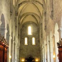 romanisches Langhaus, der älteste Teil der Abteikirche