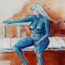 2003 - korpul. weibl. Akt -Acryl/Leinw. 50 x 60 cm