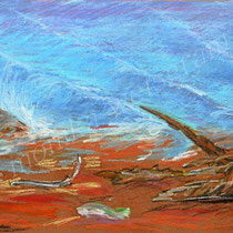 2003 - Ölkreide/Karton 30 x 50 cm