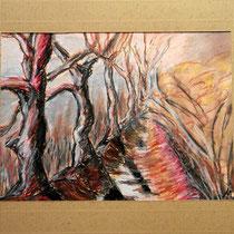2003 - Kastanienallee - Ölkreide/Papier, 30 x 40 cm
