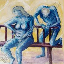 2003 - Leere Beziehung I, Acryl/HFPlatte 50 x 60 cm