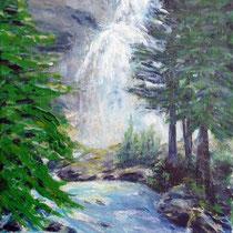 2009 - Krimmler Wasserfälle - Acryl/Leinw. 30 x 40 cm