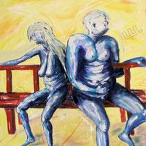 2003 -  Leere Beziehung II, Acryl/HFPlatte 50 x 60 cm