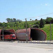 Wienerwaldtunnel - zweitlängster Eisenbahntunnel Österreichs mit 13,356km - Aufnahme Chorherrn, Tullnerfeld