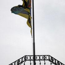 Fahne de Hauses Sachsen-Coburg und Gotha - Foto ©MW